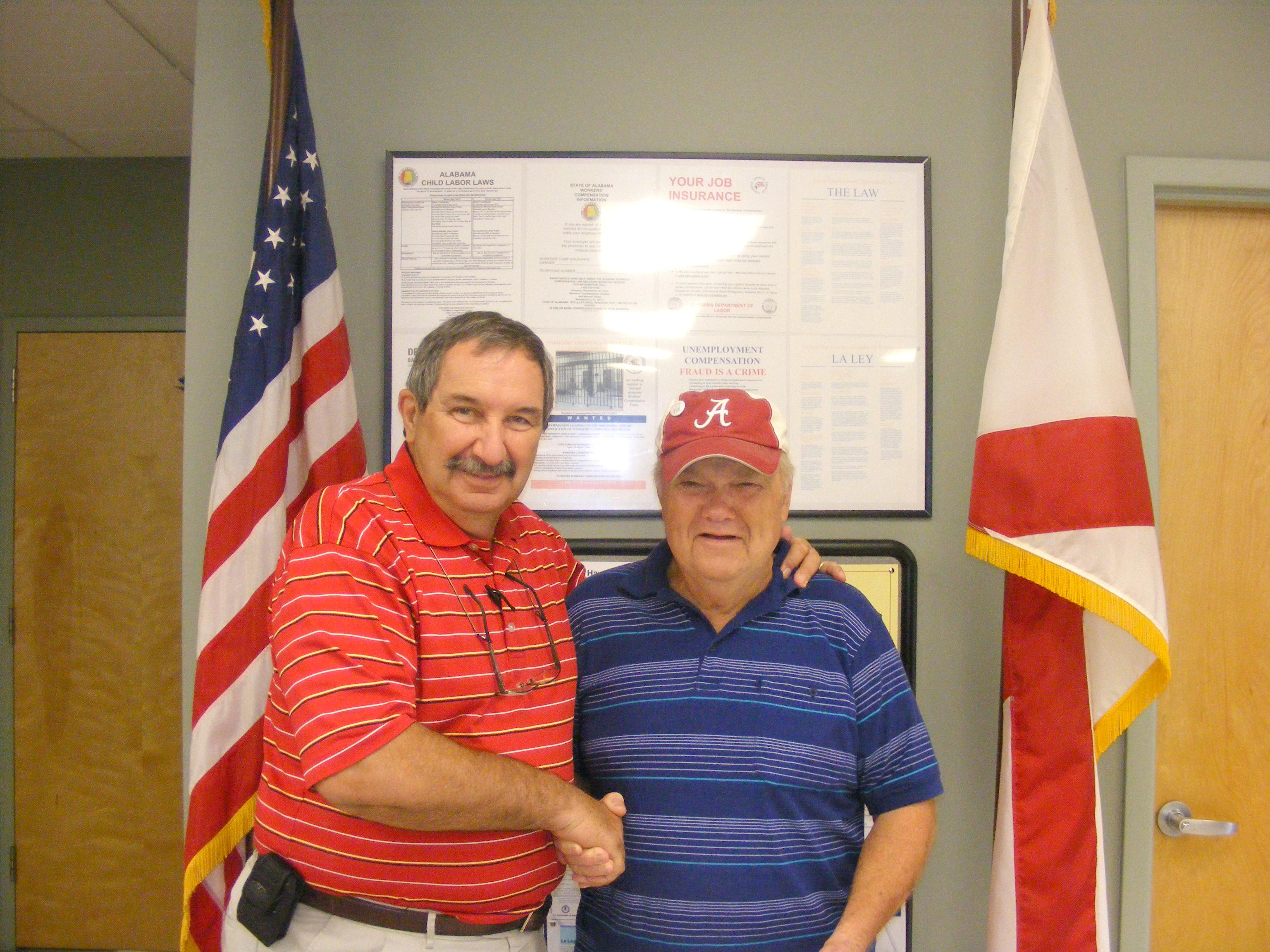 Tommy Battles Receives Funds For Senior Trip