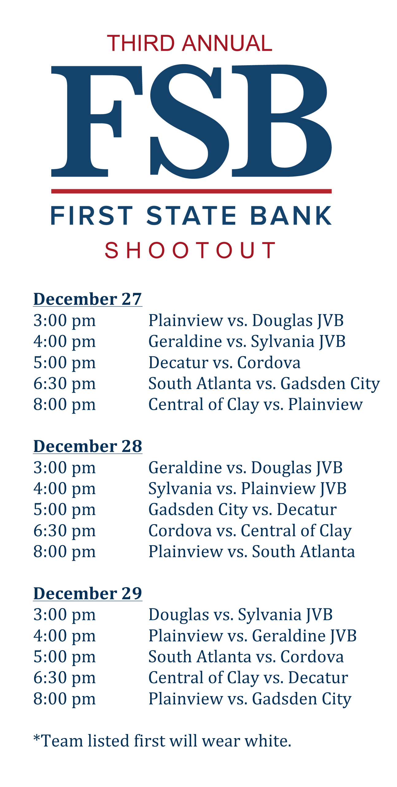 First State Bank Shootout