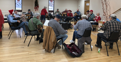 Senior Citizens Celebrate Christmas