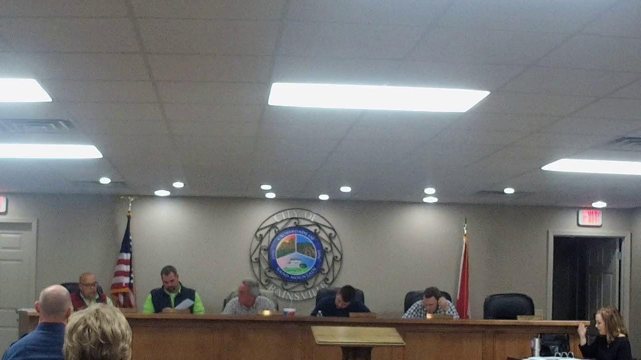 Rainsville City Council Meeting 12/4/17