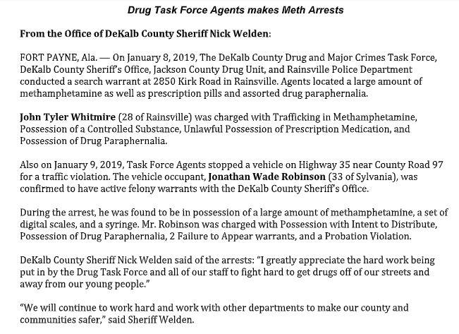 DeKalb County Meth Arrest